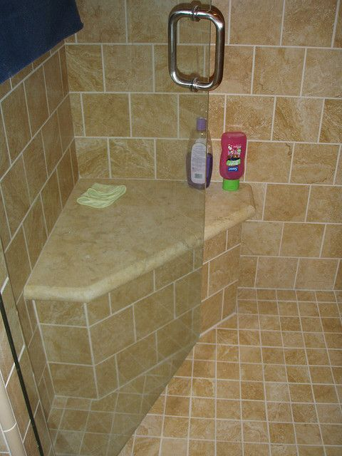 tiled shower seat design. bench in master bath  Shower seat Bench and Bath
