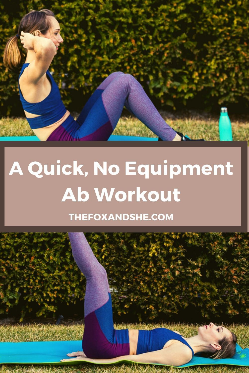Since having my son, I've learned how to stay fit as a mom. Quite often that means workouts in my living room. This at home ab workout is an amazing and easy core exercise for women. It requires no equipment and is quick—you can do it during nap time. Click through to get the full no equipment abs workout. #absworkout #momworkout #strongmom