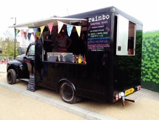 Food van cool food vans desserts idea pinterest for Cool food truck designs