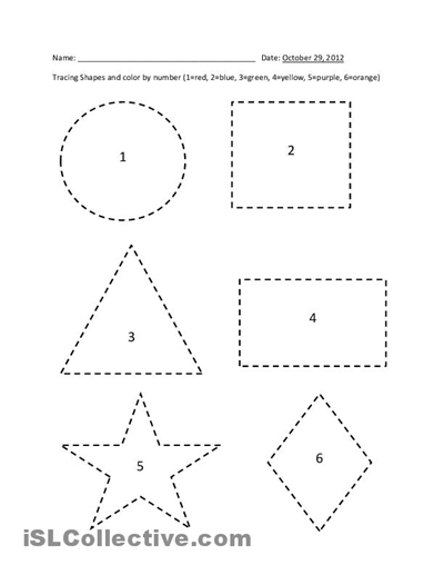 Printable Shape Tracing Worksheets Pre K Pinterest Printable