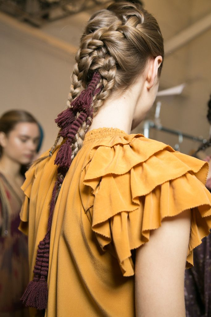 How-To: Woven Braids at Ulla Johnson FW16 by Esther Langham #nyfw #phyto #braids