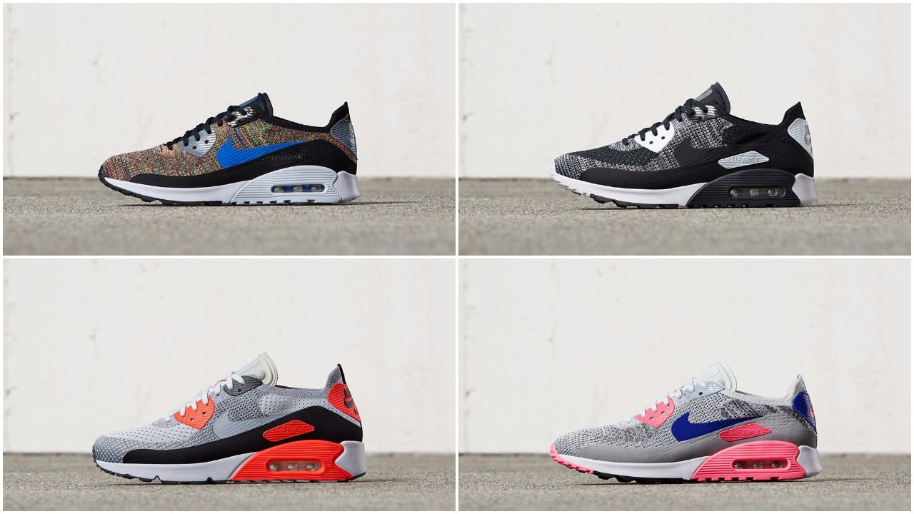 6605656927c7 Quick Look At The Nike Air Max 90 Ultra Flyknit Collection
