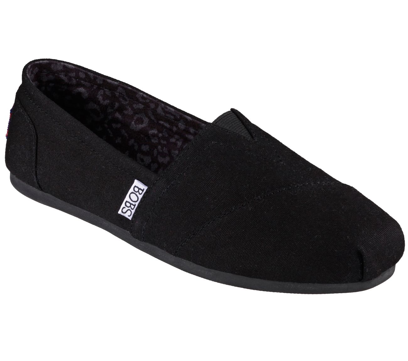 BOBS from Skechers mujer's Plush Peace and Love Flat,negro,8 M US