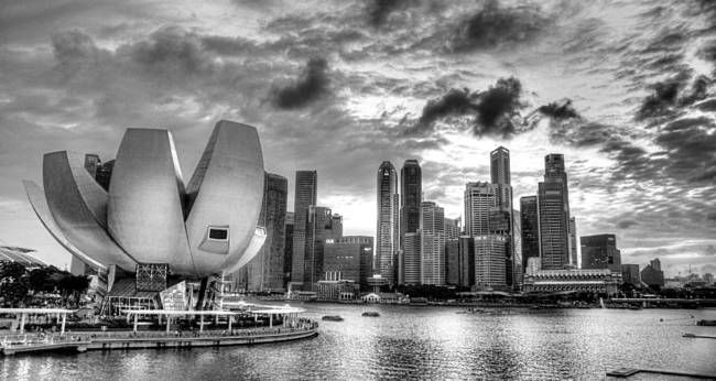 Black and white cityscape singapore by optic shoot gallery