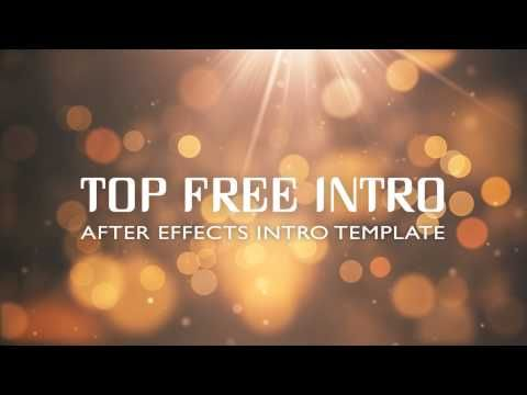 Free After Effects Intro Template - Bokeh Reveal | topfreeintro com