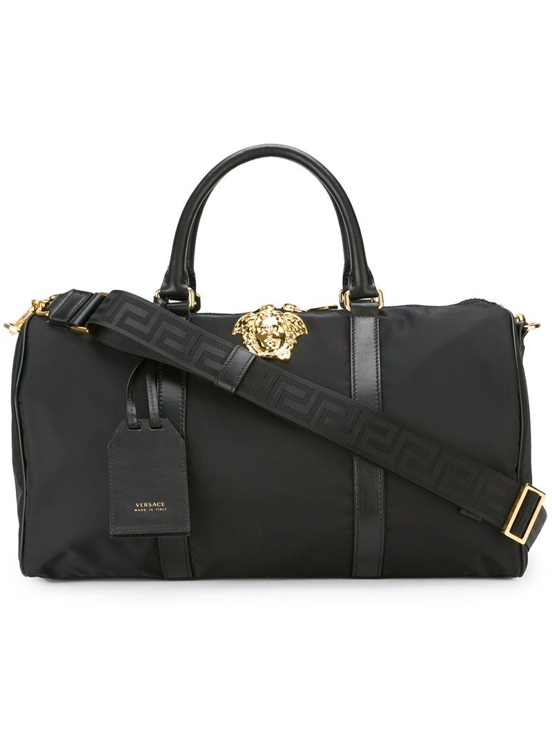 Versace  Palazzo Medusa  duffle bag, Black, Leather Nylon   ML Bags ... ab6c8b5abc