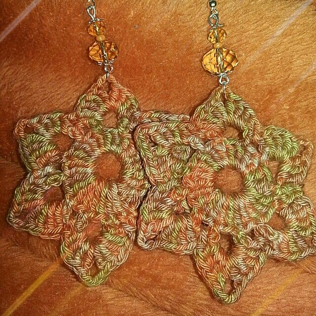 Earrings Crochet | Pendiente a crochet | Pinterest | Pendientes ...