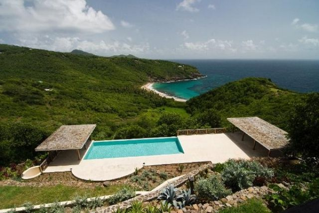 Sea view vacation villa for rent or sale at Hope Bay, Bequia, the Grenadines.