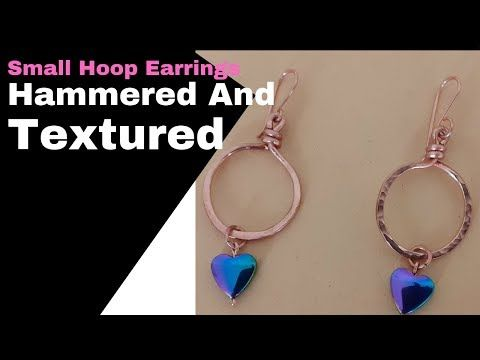 Photo of DIY Hammered and Textured Small Hoop Earrings | Valentine Gift for Women | Part 1