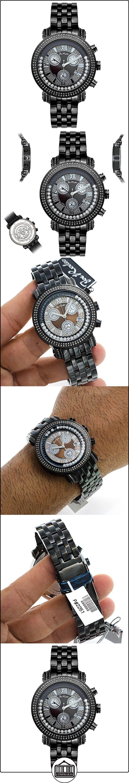 Joe Rodeo diamond reloj - Classic negro 1.75 CTW  ✿ Relojes para hombre - (Lujo) ✿