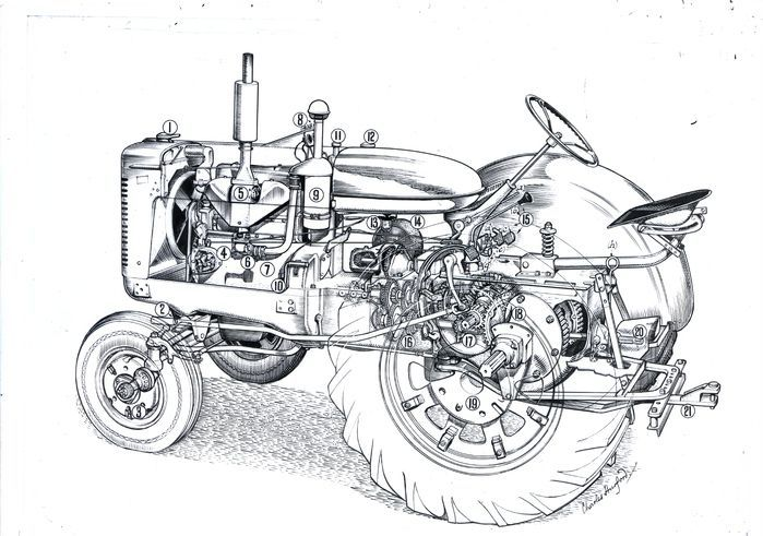 tractor engineering drawing