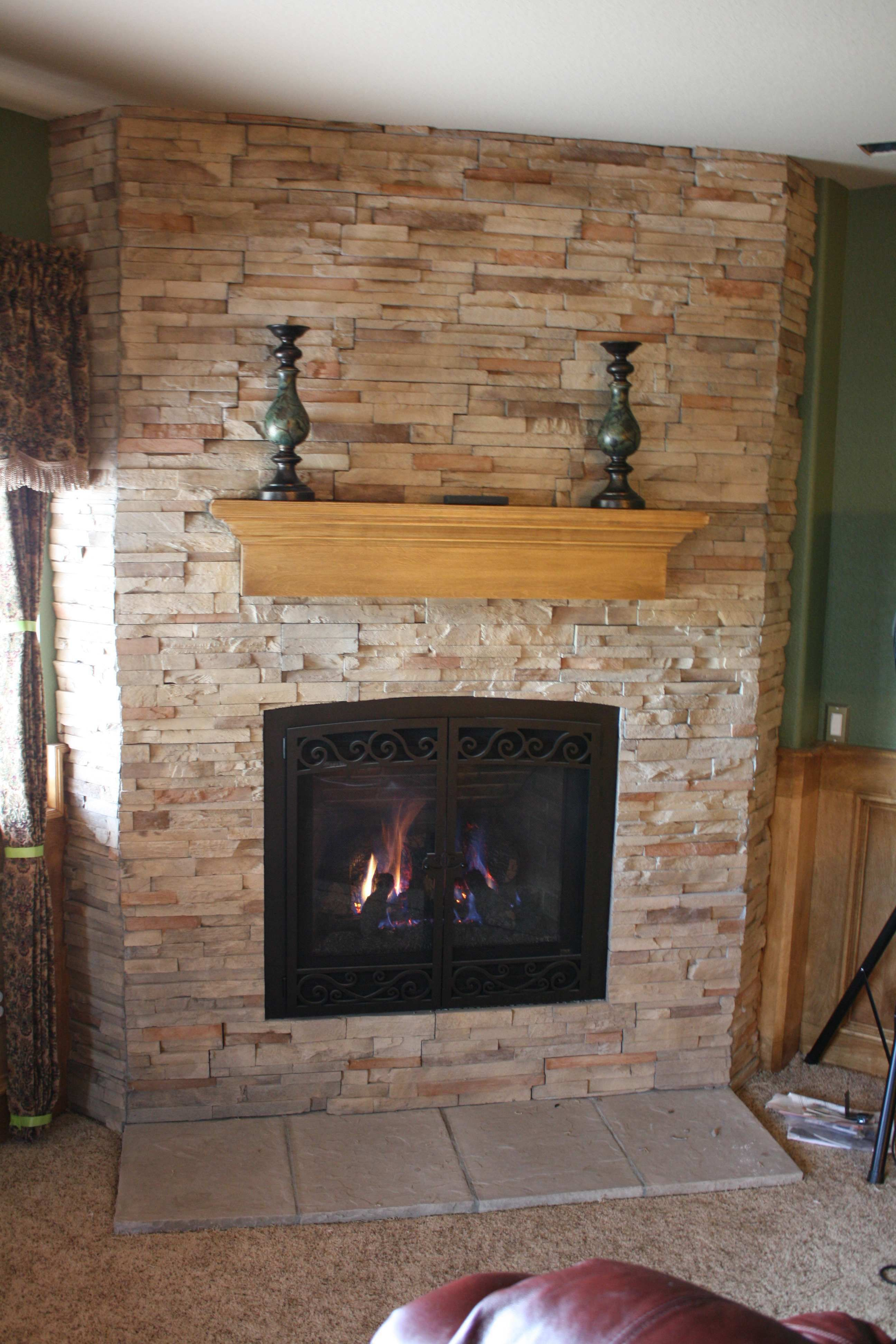 Diy Fireplace Refacing Stone Make An Easy Fireplace Refacing Awesome Refacing A Fireplace #12 Reface Brick Fireplace
