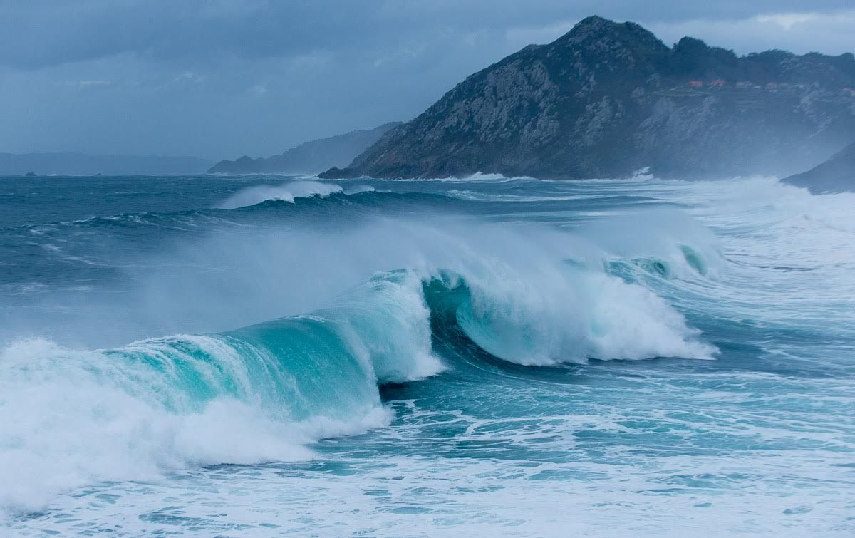Cabo Home con las Islas Cíes al fondo. Lugar especial para