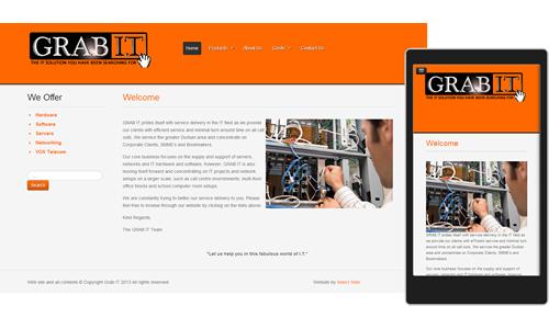 Grab It Website Responsive Website Design Www Grab It Co Za Website Design Responsive Website Design Digital Agencies
