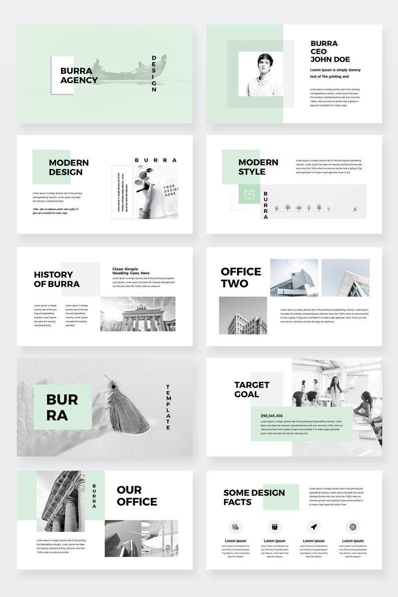 Burra - Clean Simple PowerPoint Presentation Template
