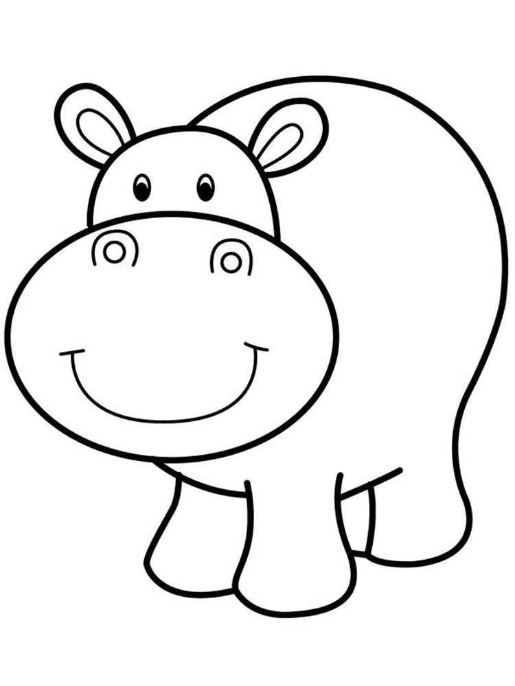 Hungry Hippo Coloring Pages Hippo Is A Large Semi Aquatic Mammals That Inhabit Mostly In Africa T Animal Coloring Pages Coloring Pages Cartoon Coloring Pages