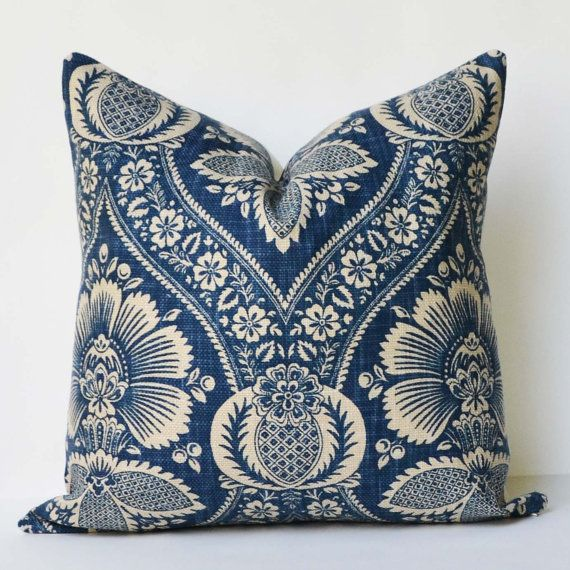 Decorative Pillow 20x20 Artissimo Navy Fabric Accent