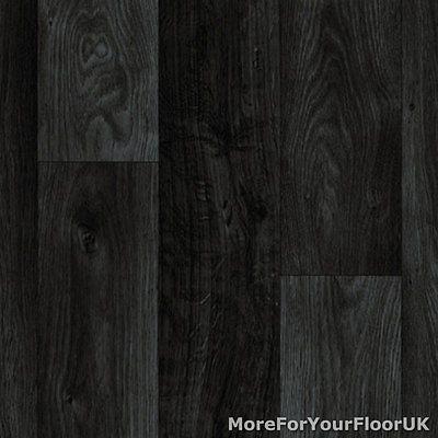 Details About Black Dark Grey Wood Plank Vinyl Flooring Slip