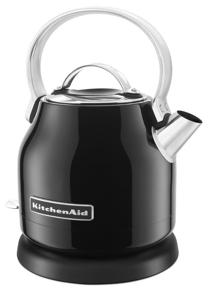 Kitchenaid Electric Kettle Onyx Black L Capacity Led On Off Switch Bpa Free Interior And Removable Base Smooth Aluminum Handle With Stainless Steel Body