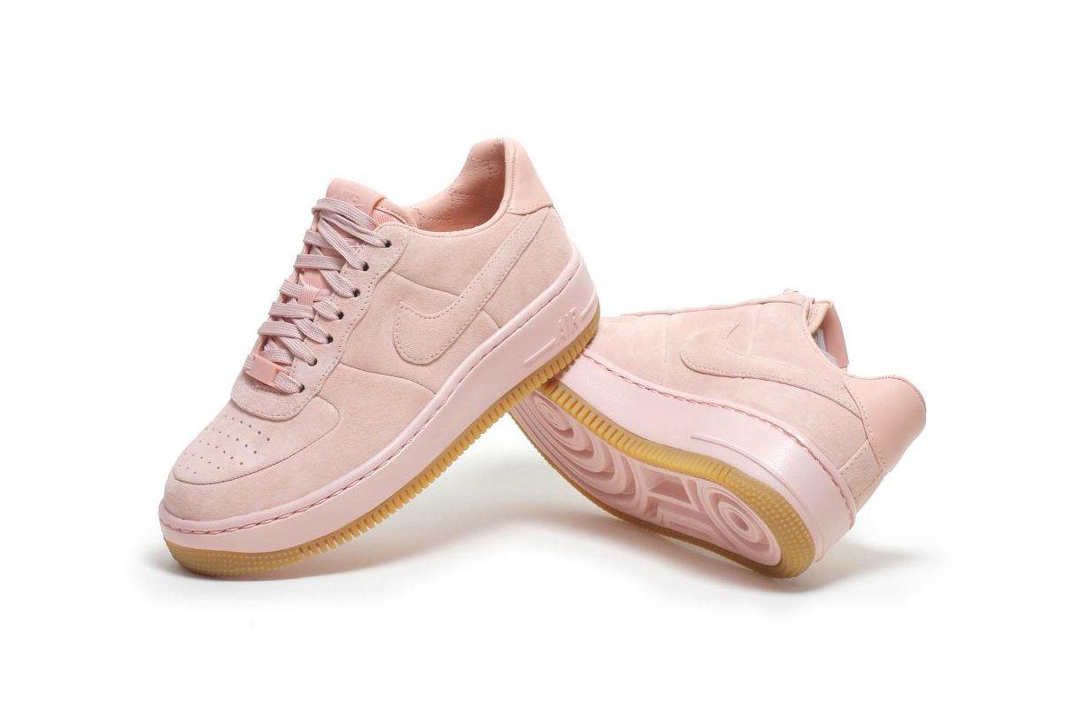 Nike Air Force 1 Upstep Baskets en daim de qualité
