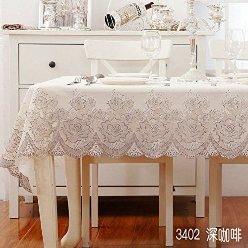 Pvc Tablecloth Water And Oil Proof Disposable Tablecloths Lace Table Cloth European Style B 132x177cm 52x70inch