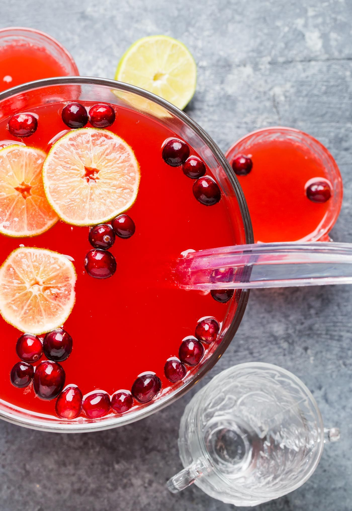 Need An Easy Batch Cocktail For The Holidays Your Search Is Over With This Boozy Cranberry Punch Cranberry Punch Holiday Drinks Christmas Food