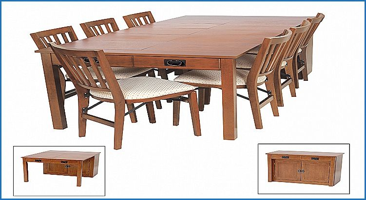 Beautiful Expanding Cabinet Dining Table