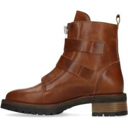 Photo of Cognacfarbene Biker Boots mit Schnallen (36,37,38,39,40,41,42) Manfield