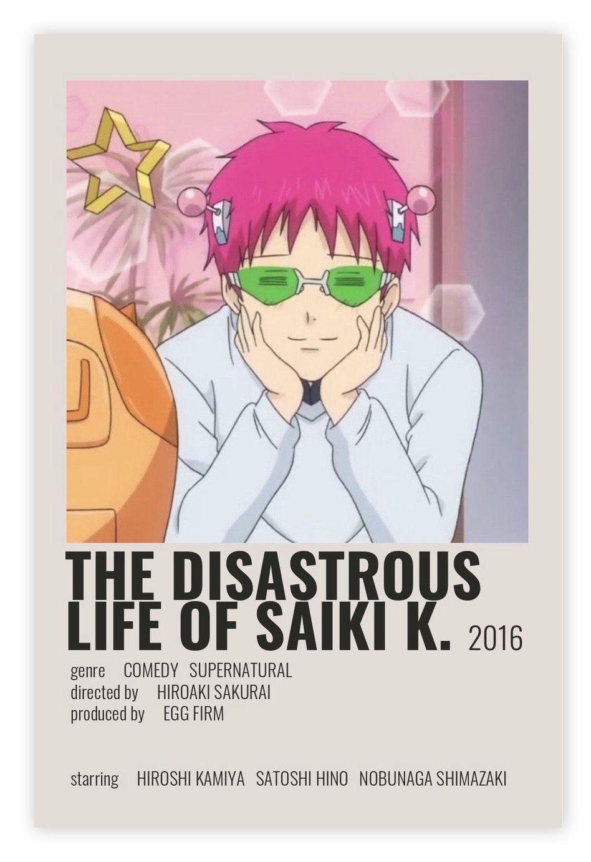 The Disastrous Life of Saiki K. poster,TV Series,Anime movie TV Series,Canvas poster