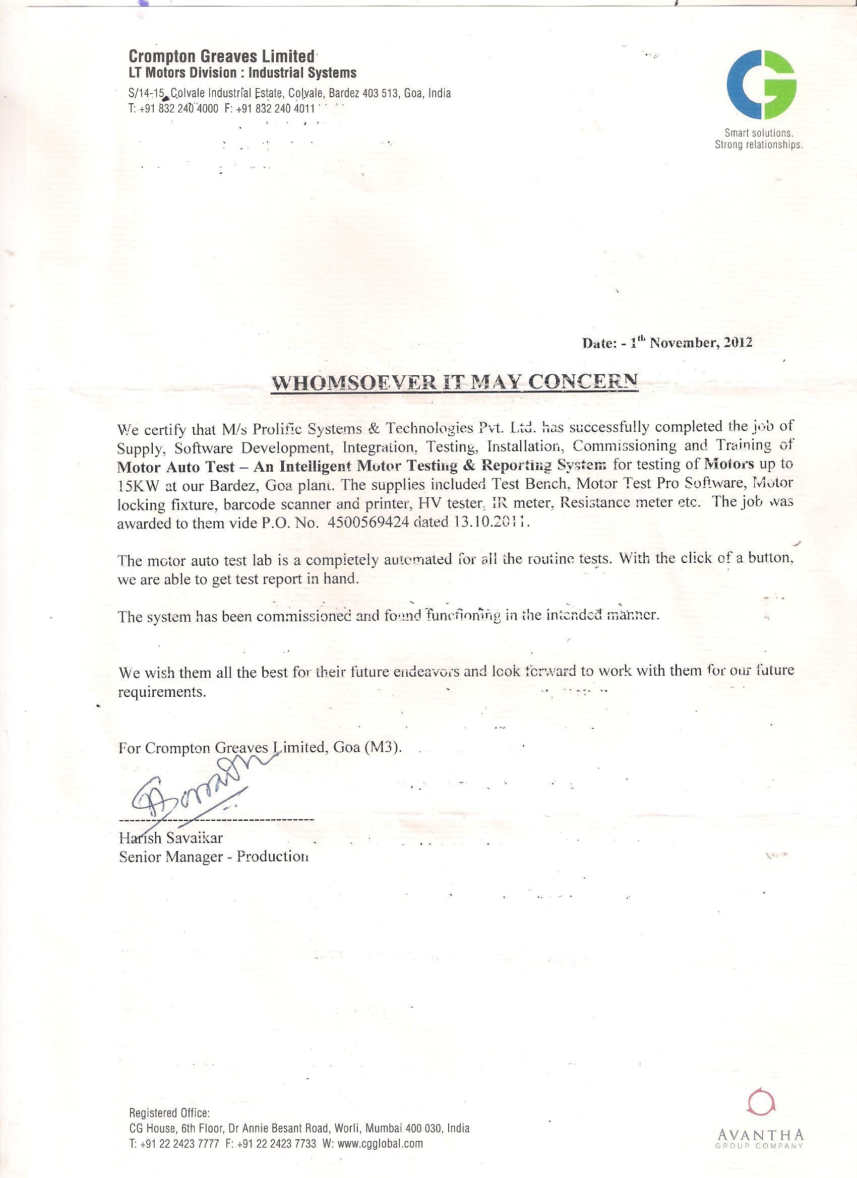 Valid Job Completion Certificate Letter you can download