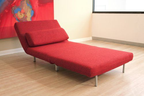Amazon Com Baxton Studios Romano Convertible Sofa Chair Bed Red