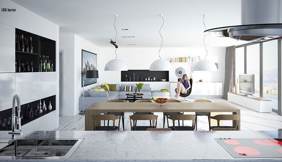 Come arredare un open space di 40 50 mq house living for Arredare un open space
