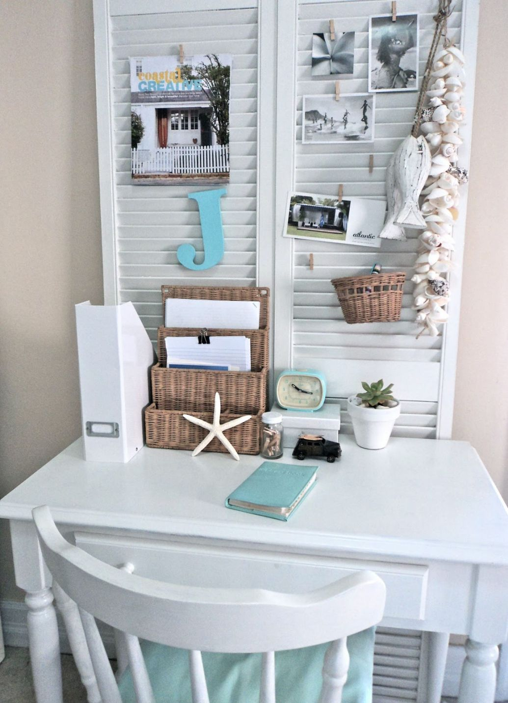 Small Office Space, Love The Shutter Idea. And Esp Since We Already Have  Folding Shutters. It Would Almost Match.
