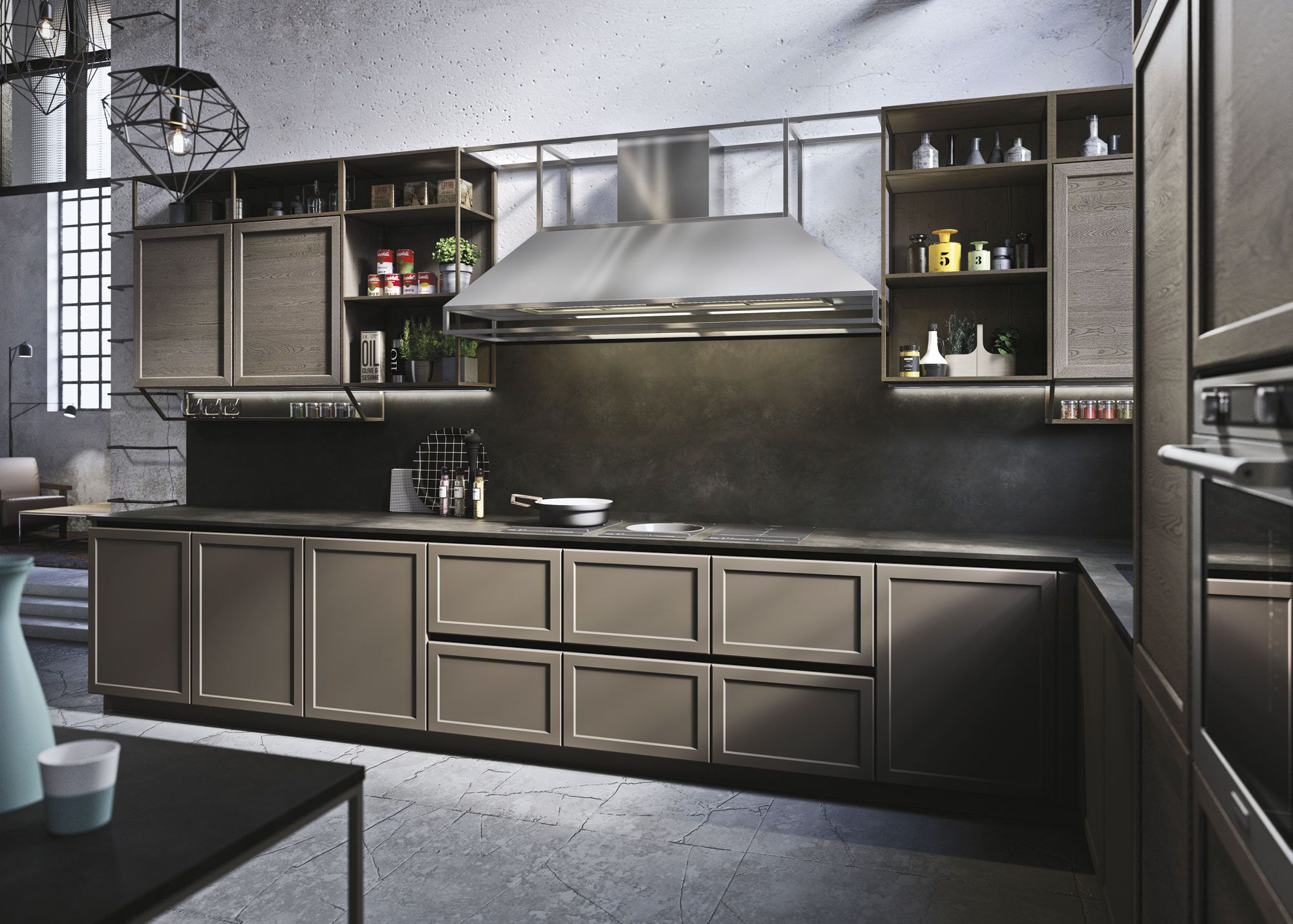 Snaidero FRAME Kitchen Cabinet Has A Classic Framed Door Where The Recessed  Handles Exude A Modern