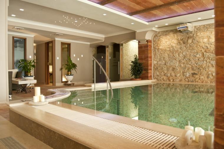Construcción de piscinas dentro de la casa en 36 diseños –