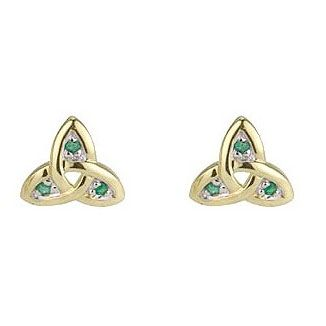 Celtic Trinity Knot Sterling Silver Stud Earrings With 9ct Gold Trinity Knot Centre - Stunning Irish Jewellery i2OTNO2hKp