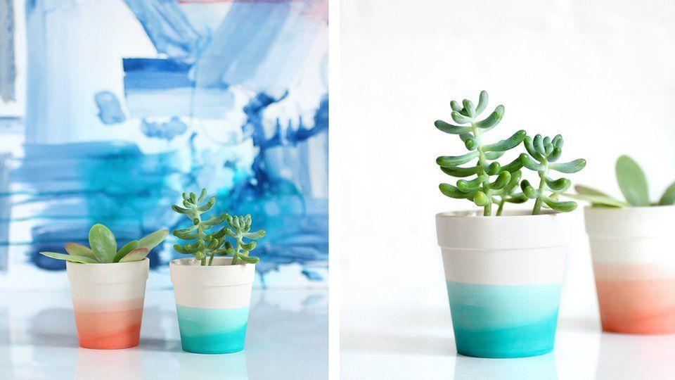20 Idees Diy Pour Customiser Des Pots De Fleurs Craft