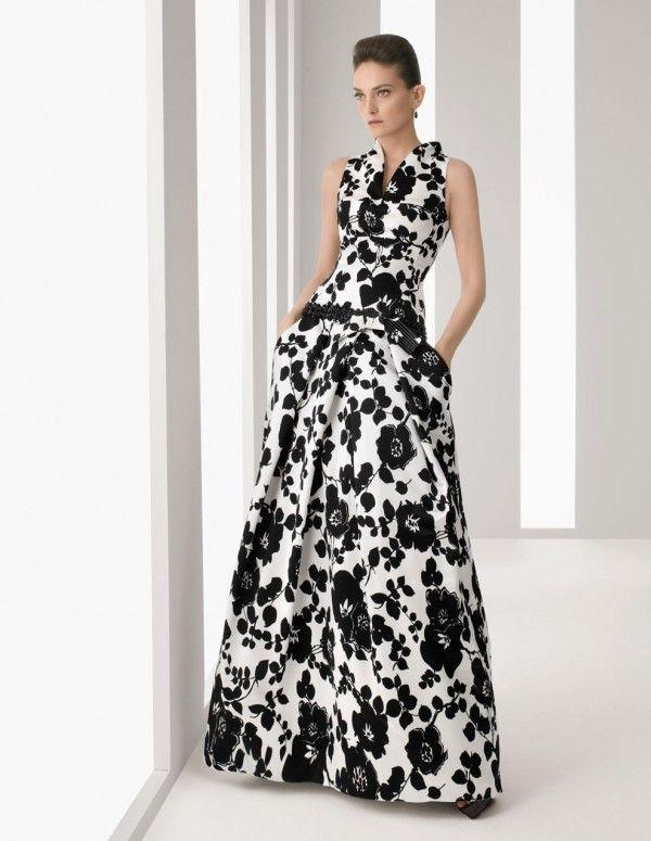 Vestidos de fiesta blanco con negro
