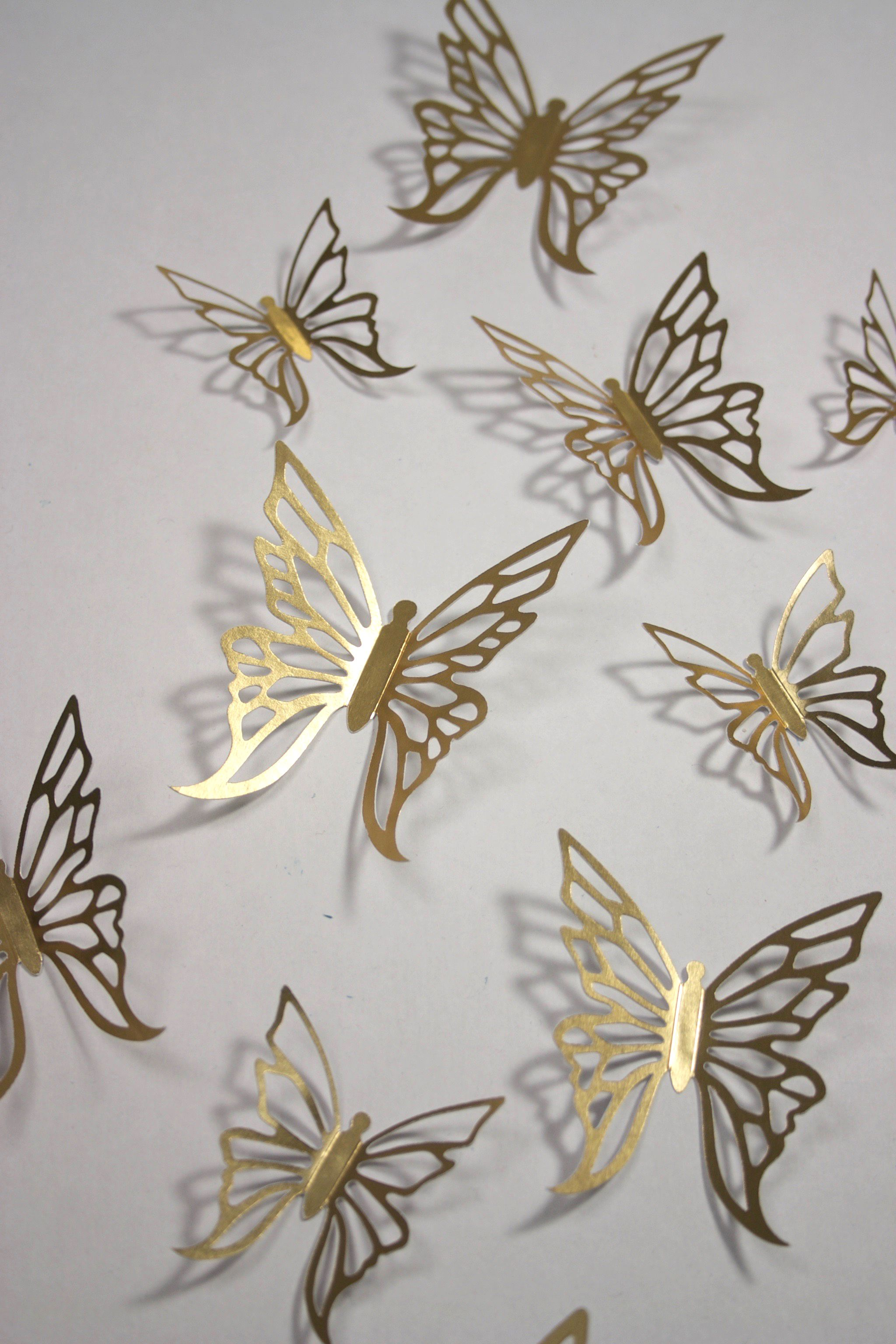 Gold Butterfly Wall Stickers Beautiful For Weddings Butterfly Wall Decor Butterfly Bathroom Bull Horns Wall Decor