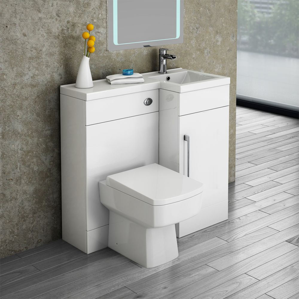 Valencia 900 Combination Basin Wc Unit With Square Toilet Online Toilet And Sink Unit Small Bathroom Vanities Sink Toilet Combo