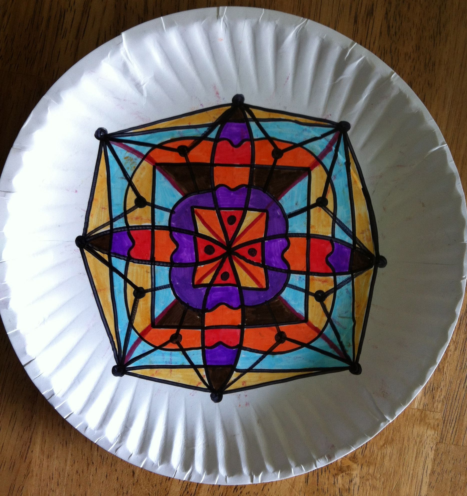 Make A Mandala On Paper Plates To Teach Symmetry Rotational Symmetry Angles And More