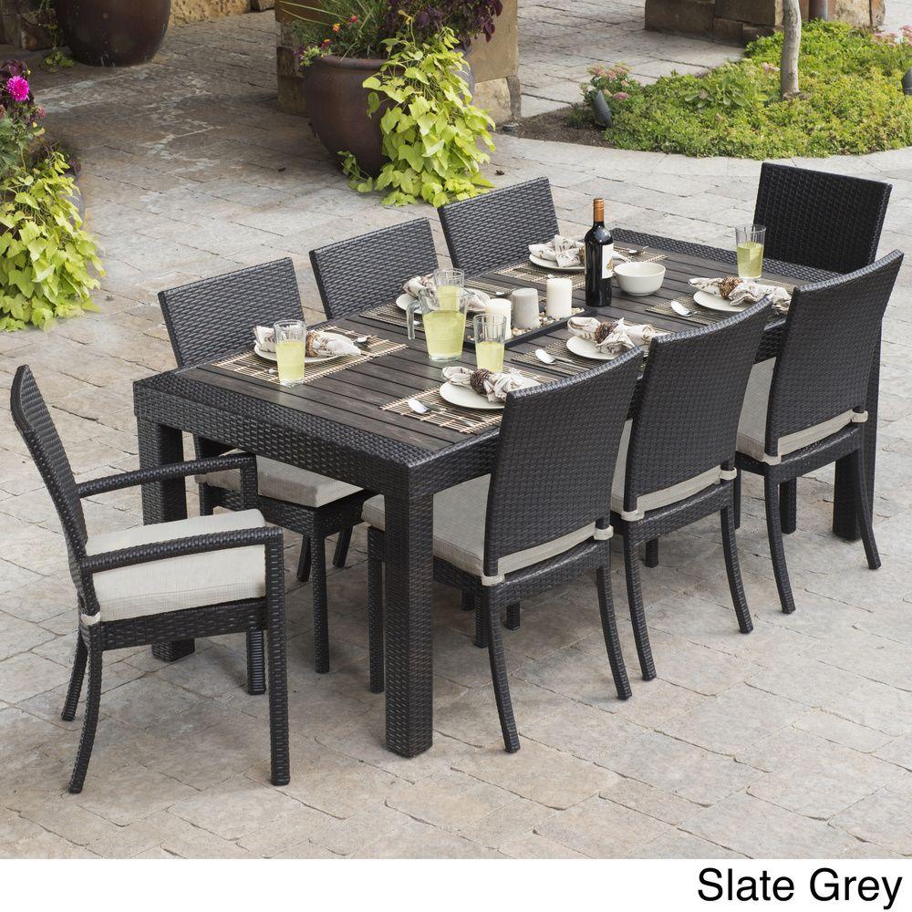 Rst Brands Deco 9 Piece Dining Set Patio Furniture Overstock Com