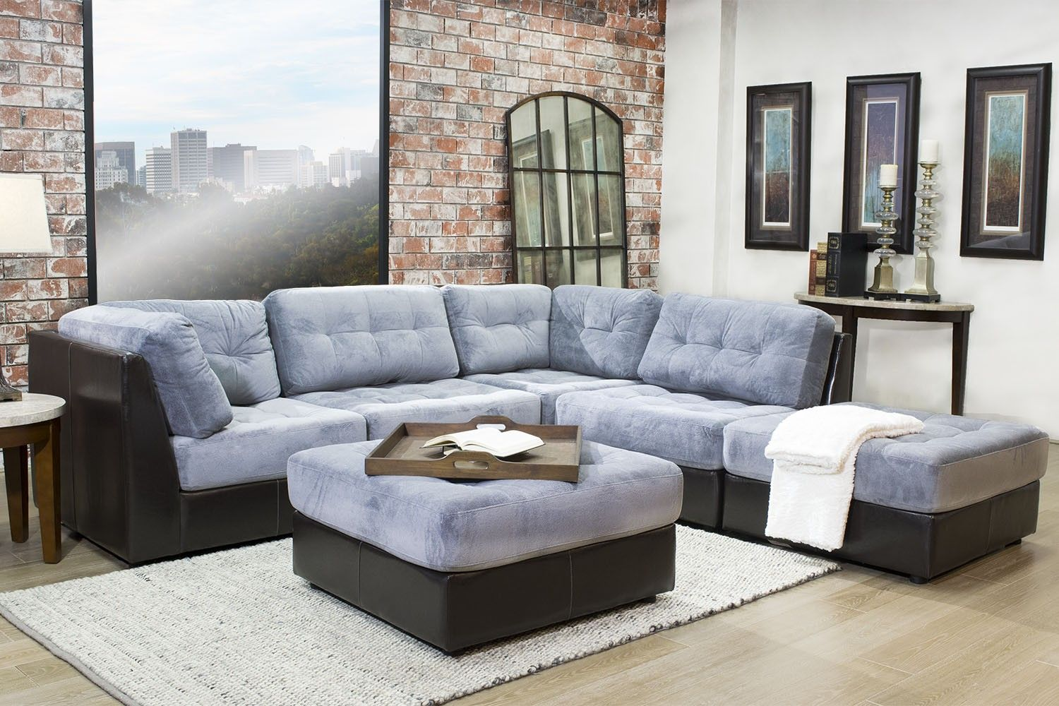 Living Room Sets For Less quantum gray 5-piece sectional - sectionals - living room | mor