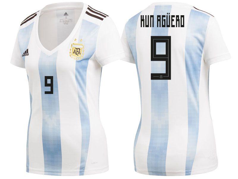 Argentina 2018 World Cup Home Women Jersey sergio aguero  aef179df1