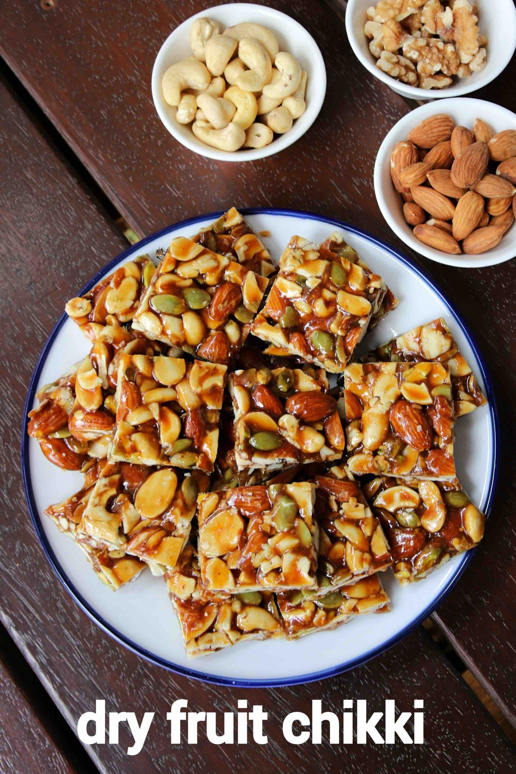 Dry fruit chikki recipe kaju badam chikki mixed nuts