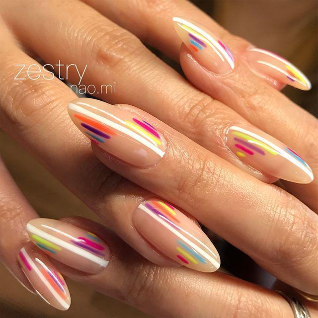 naomi@nail salon zestry в Instagram: «シンプルでcolorfulでかっこいい。とのオーダー。 かわいいのでき