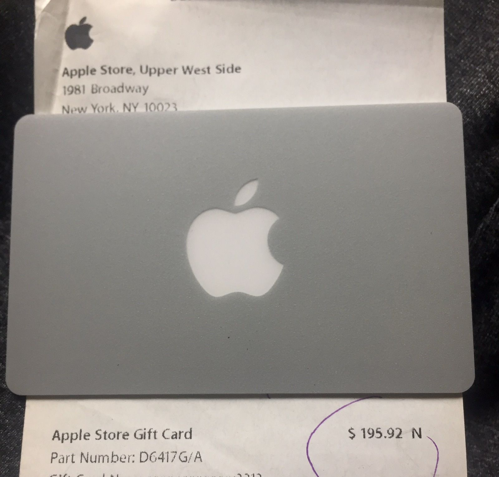 Apple Gift Card 19592 I Will Email You Only Pin And Card And