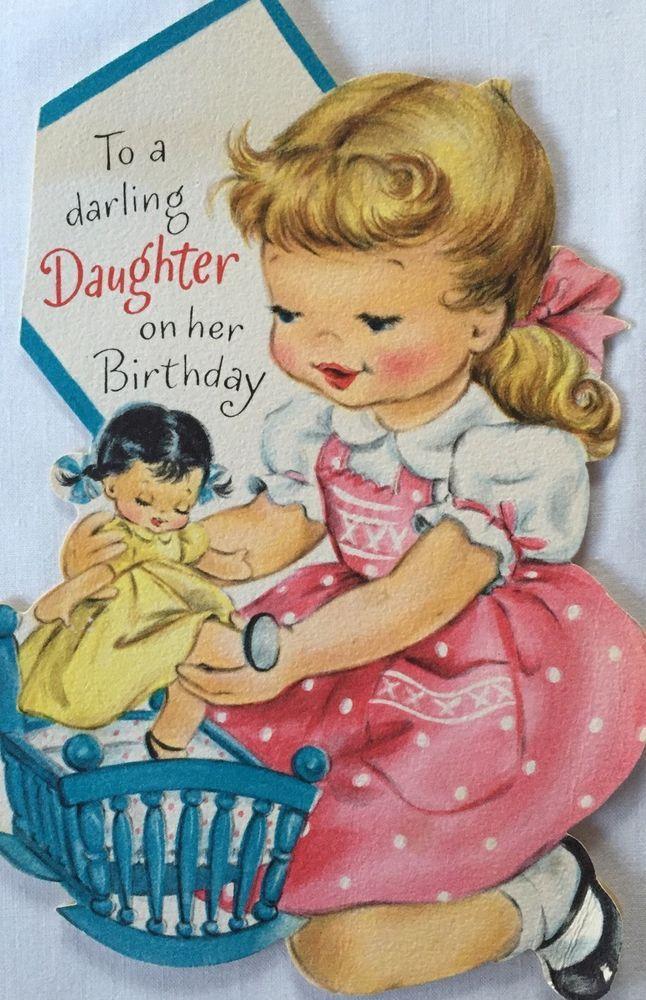 50s birthday card blonde girl in ponytail playing wdoll crib 50s birthday card blonde girl in ponytail playing wdoll crib bookmarktalkfo Images