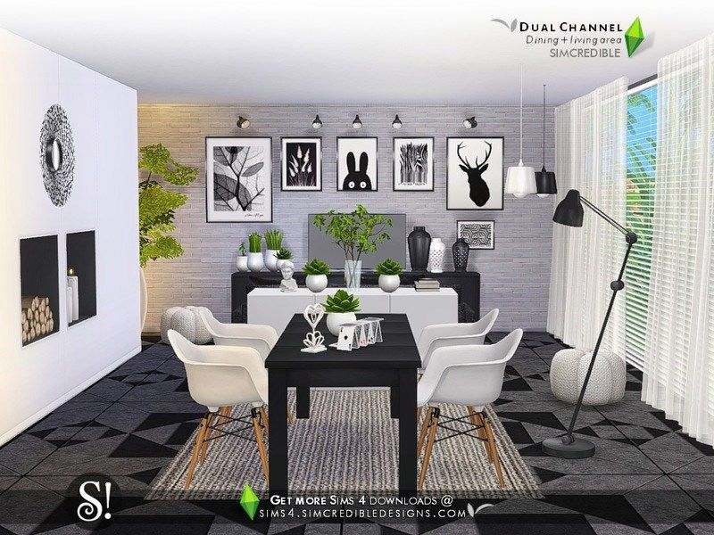 Dual Channel The Sims 4 Catalog Sims House Living Room Sims 4 Sims 4 Kitchen