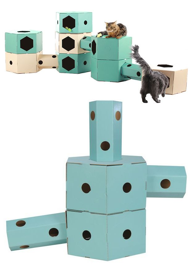 aire de jeu pour chat en carton 20 animaux pratique. Black Bedroom Furniture Sets. Home Design Ideas